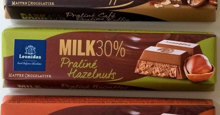 Leonidas chocoladerepen review
