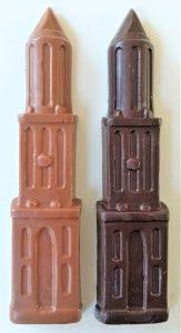 Domtoren van chocolade