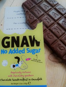 seuikervrije chocolade Gnaw