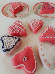 Brownieharten voor Valentijnsdag