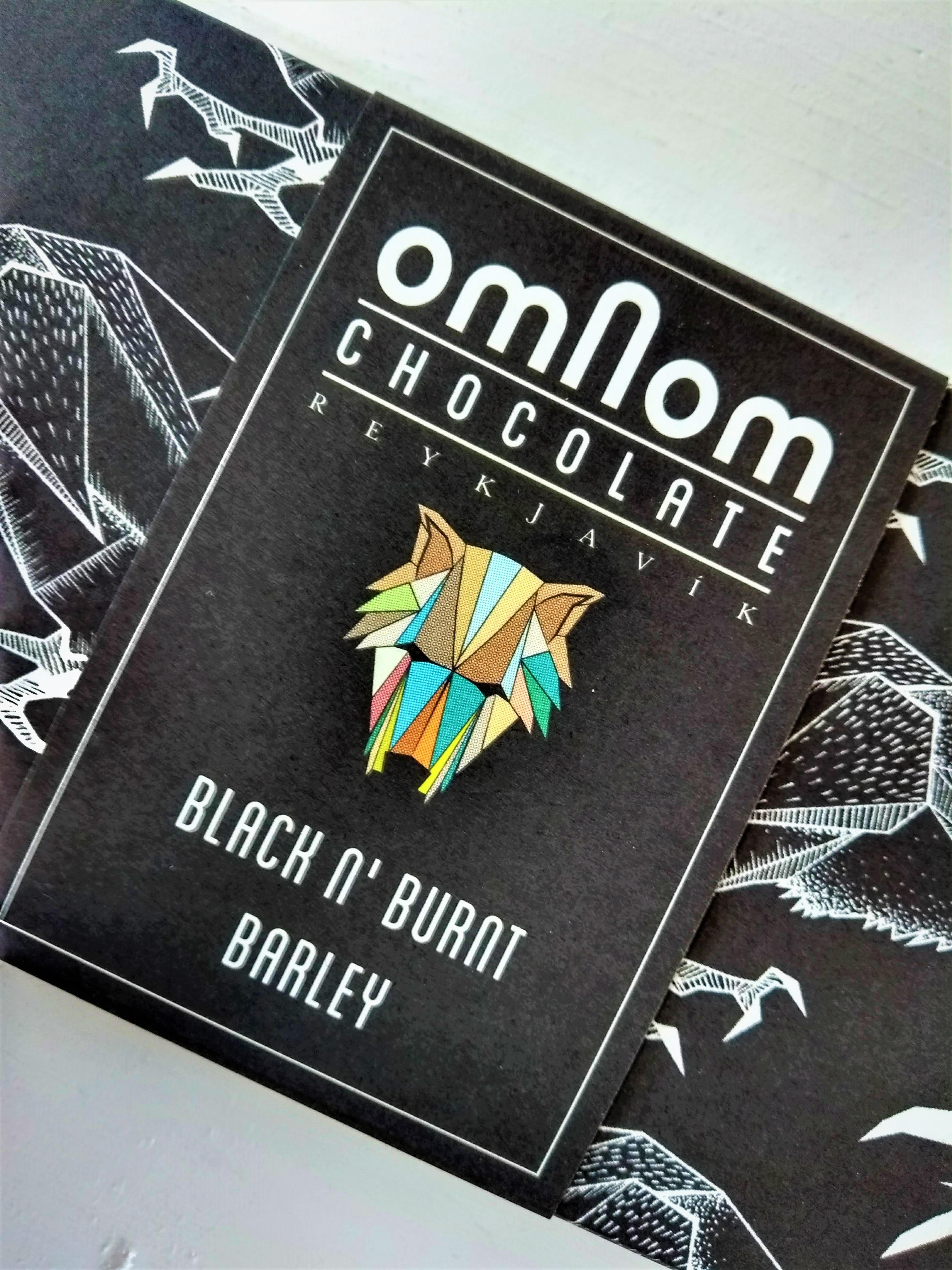 Omnom Black n' Burnt Barley: zwarte chocolade uit IJsland