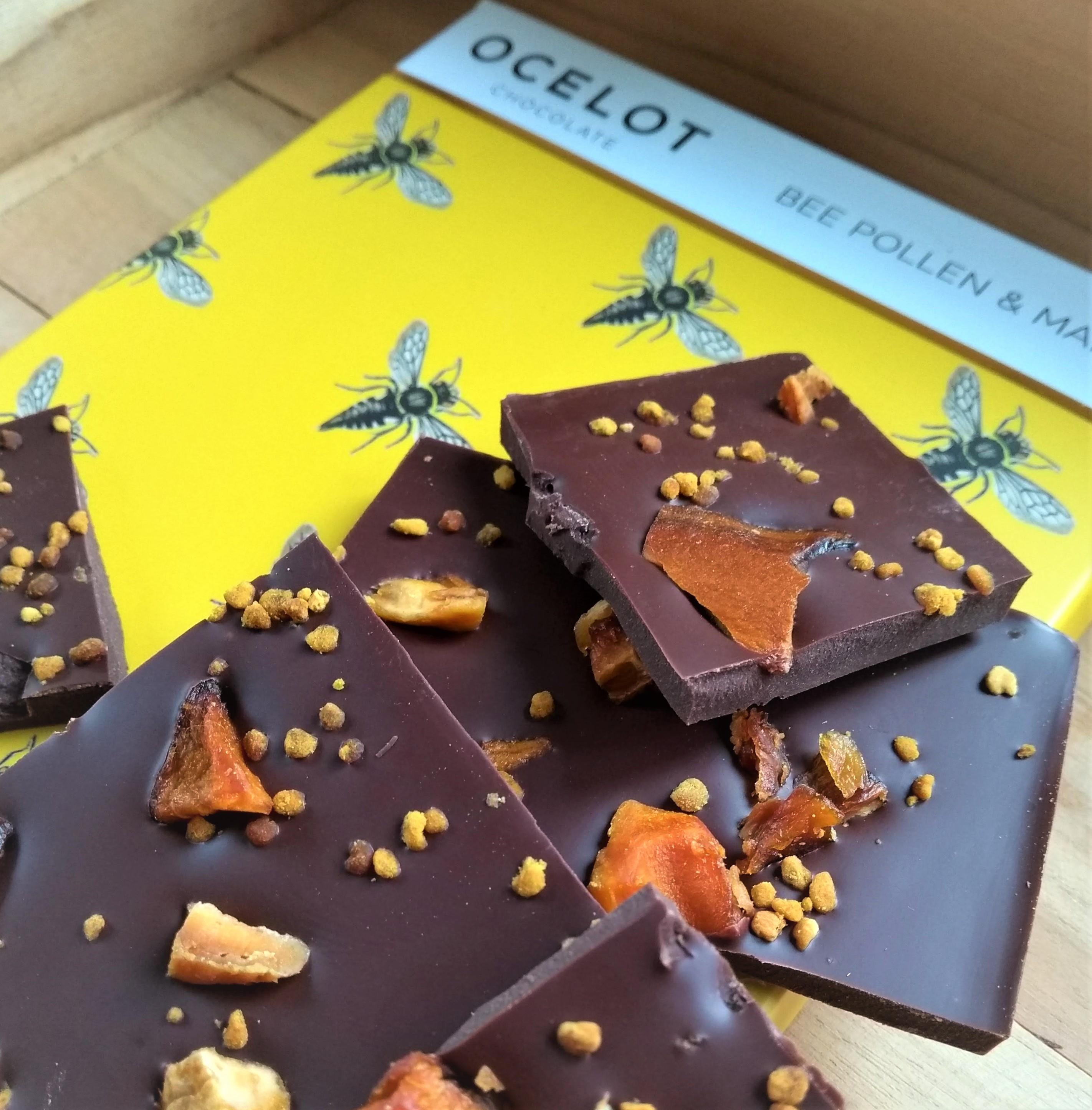 Ocelot chocolade: bijenpollen en mango