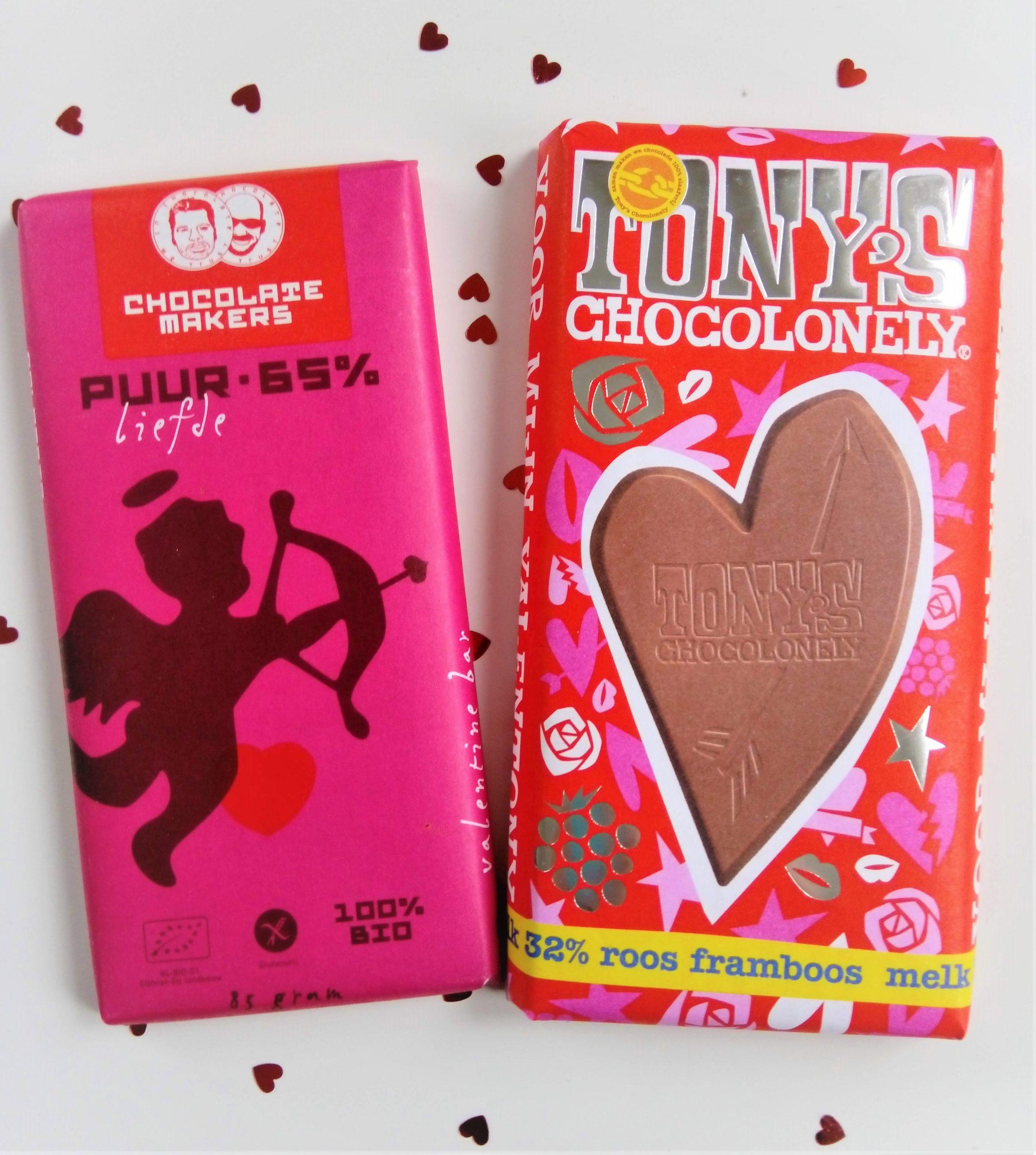 Chocoladerepen voor Valentijn: Tony's vs Chocolatemakers