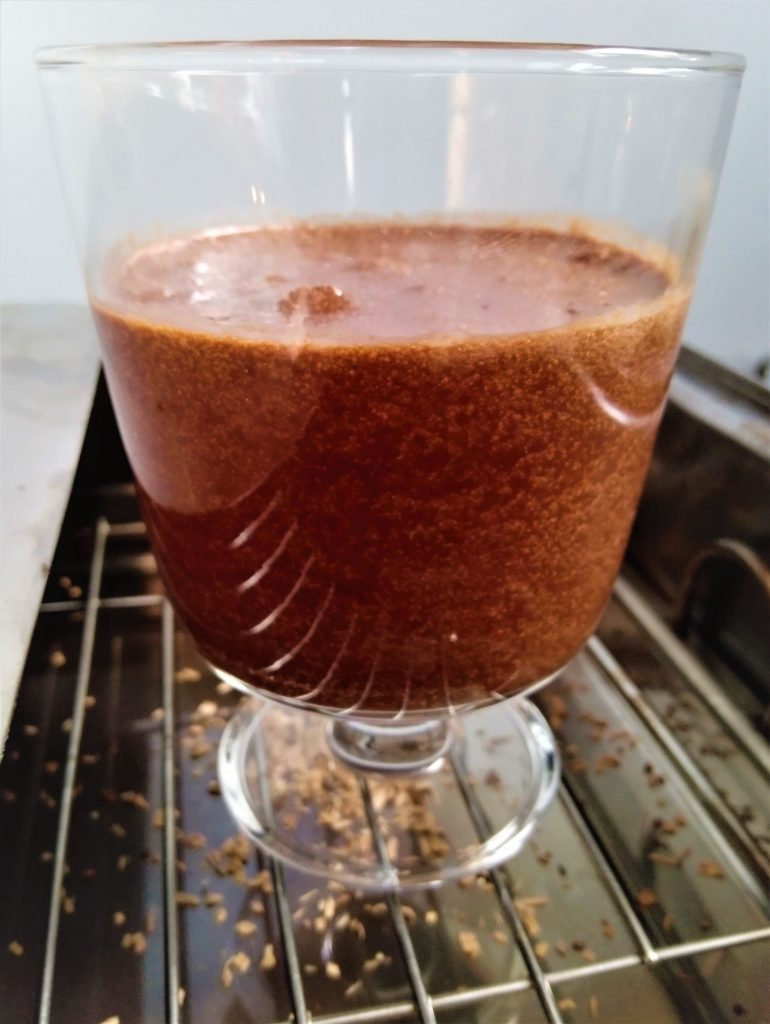 gerookte chocolademousse