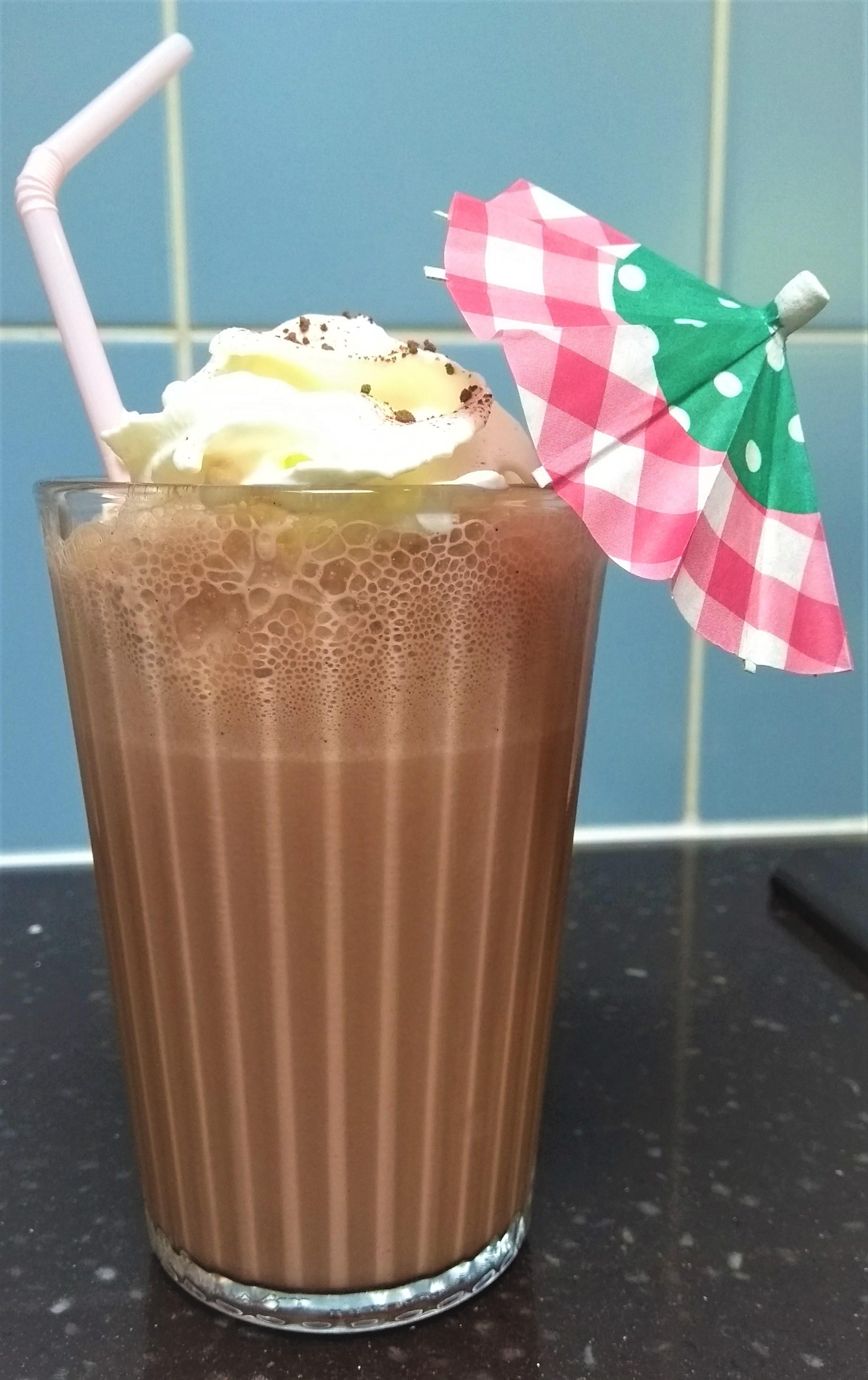 Pepermunt-chocolademilkshake
