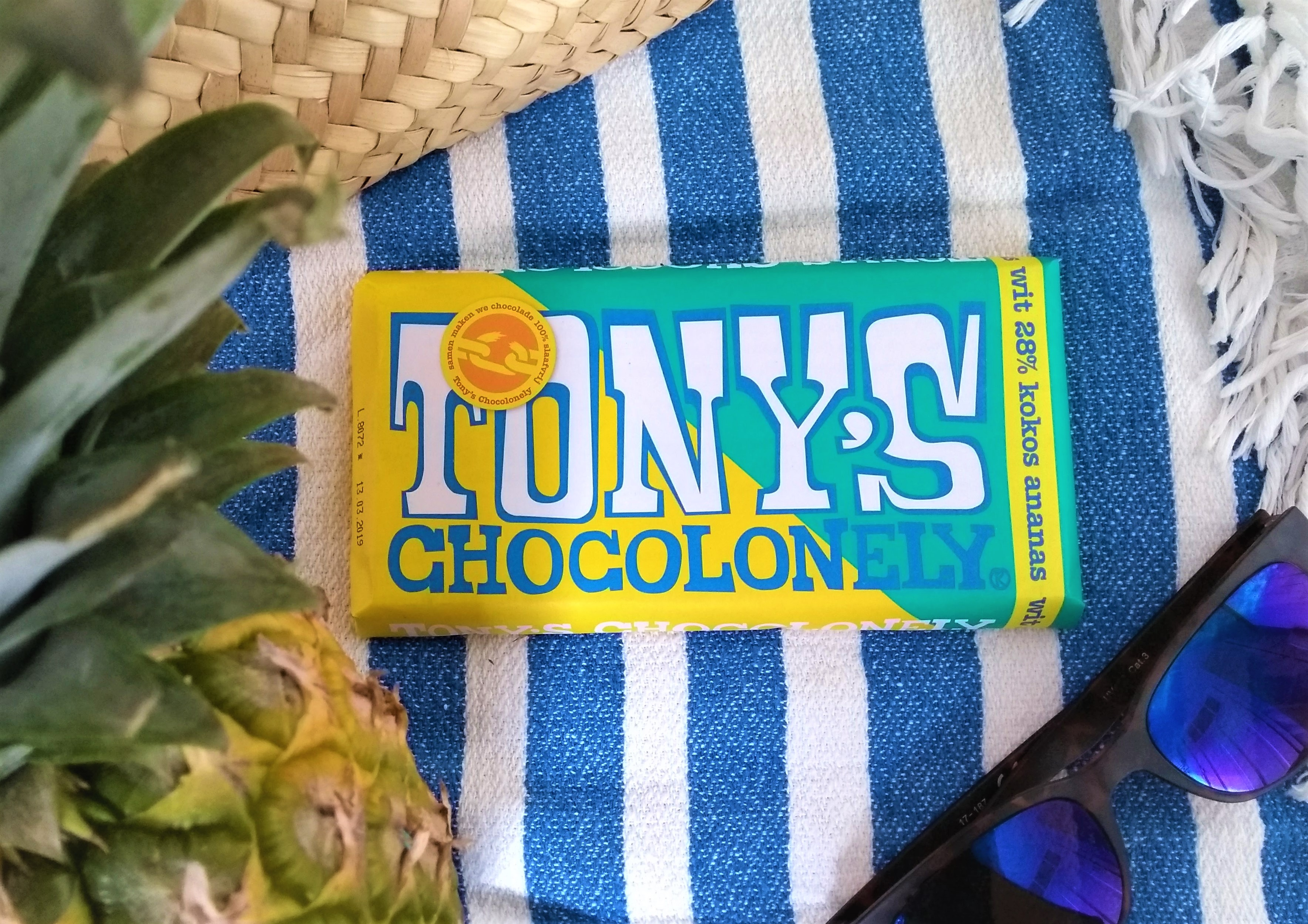 De nieuwe estafettereep van Tony's: wit kokos ananas