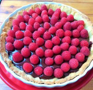 chocoladetaart met frambozen recept