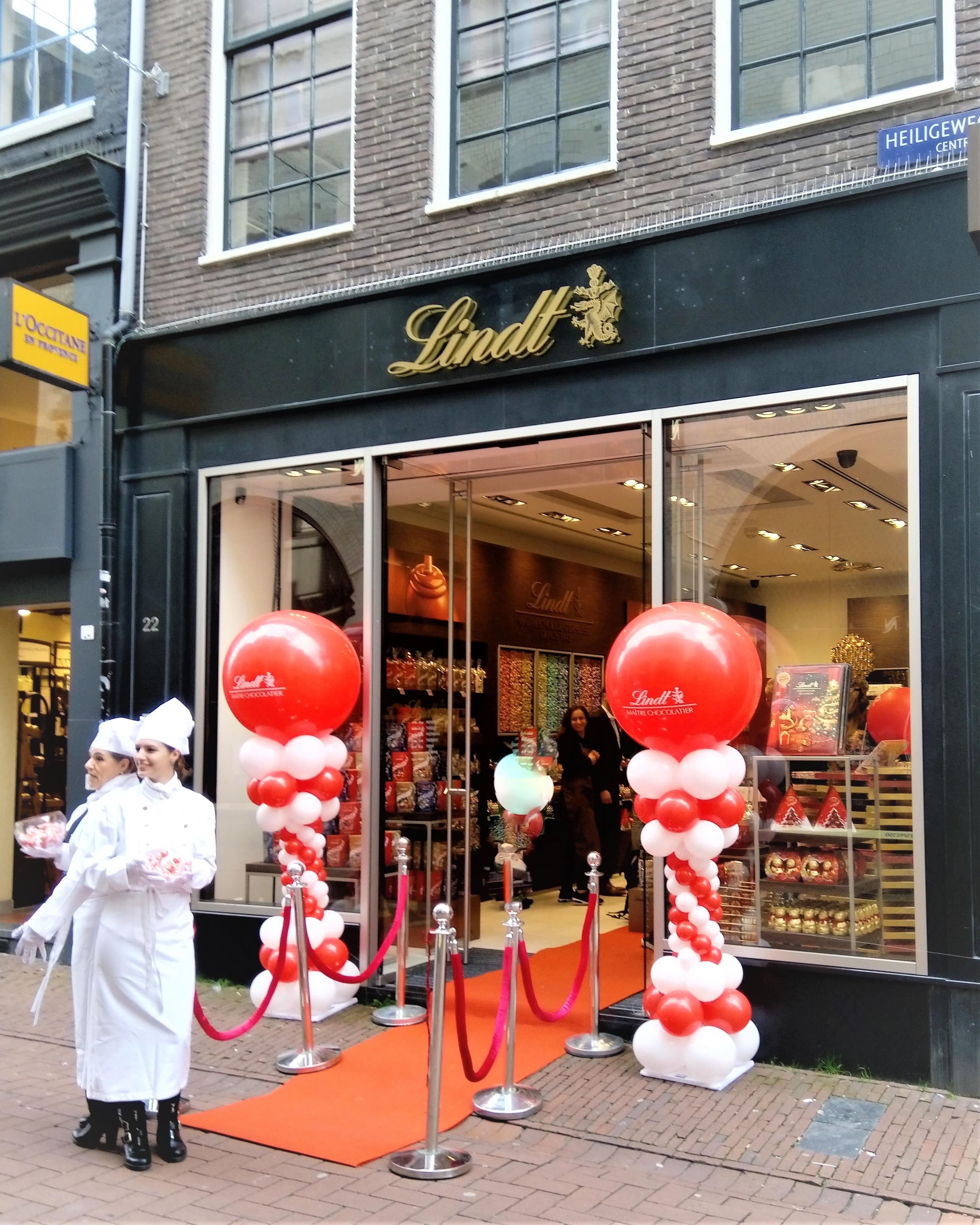 Lindt opent vierde chocoladewinkel in Amsterdam